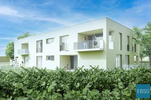 Moderne Wohnung mit Loggia und Garten