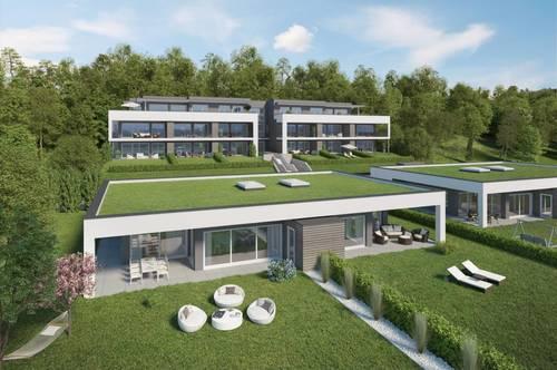 Velden HILLS! Erstklassige Neubau-Gartenwohnung in Sonnenlage mit Bergblick