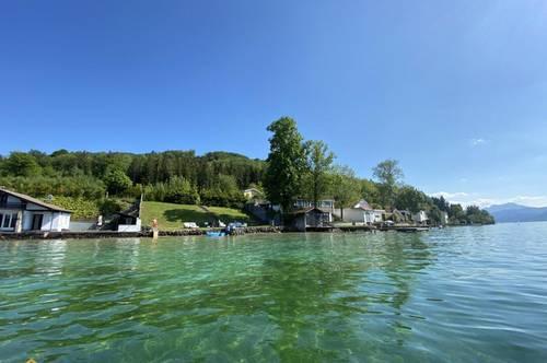 Exklusives Seegrundstück am Attersee + Seezugang, Steg, Boje & Baubewilligung
