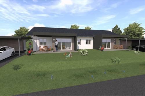 BAUSTART ERFOLGT! Stilvolle Doppelhaushälfte mit Terrasse und Garten in Grafendorf bei Hartberg