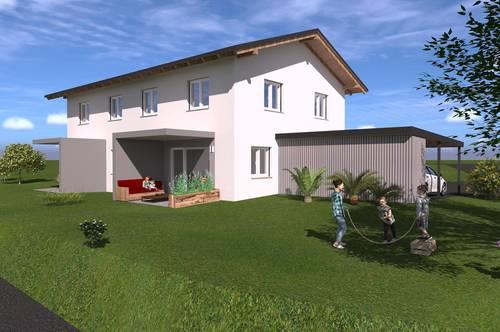 PROVISIONSFREI! Wunderschöne Neubau-Doppelhaushälfte mit sonniger Terrasse+Garten in Grafendorf