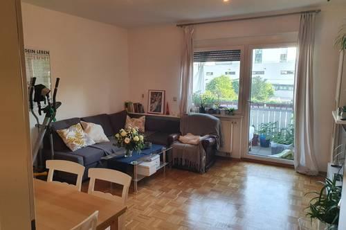 Schöne 2-Zimmer-Mietwohnung mit Balkon und Tiefgarage in Graz St. Leonhard