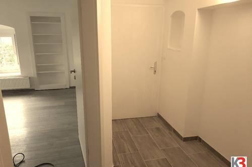 K3! Kleinwohnung, neu saniert, 2 Zimmer, mit Gartenbenützung