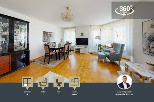 geräumige 4-Zimmer Wohnung   separate Küche   2. OG   Lift   TG-Stellplatz   WG-tauglich