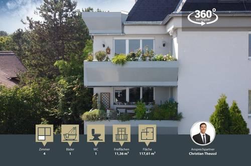 traumhafte 3-4 Zimmer Wohnung in absoluter Ruhelage | Ober St. Veit | großer Balkon | Waldrandlage