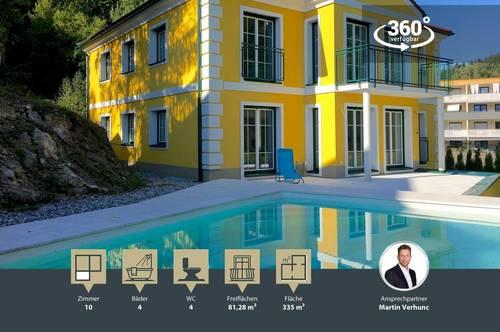 Villa Gloriette   mit Pool direkt am Wörthersee   Pörtschach mit Seeblick   ca. 100m Luftlinie zum See