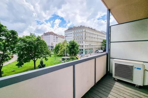 Blick Donaukanal // 3-Zimmer Wohnung + 2 Balkone (ca. 10 m²) nahe Rudolfsplatz // TOP-LAGE