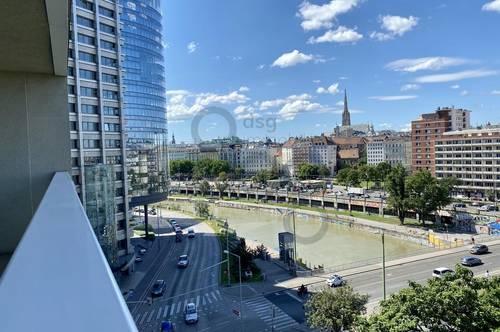Rarität am Donaukanal!  Traumhafter Blick  in den 1. Bezirk!