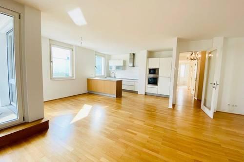 Perfekt geschnittene Dreizimmerwohnung am Schafberg, mit Terrasse und Wienblick