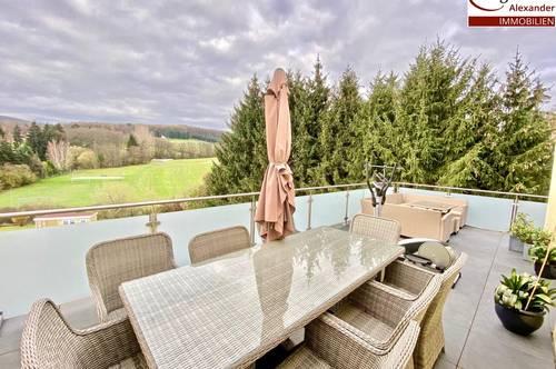 Dachgeschosswohnung mit Feldblick und insgesamt 63m² großer Terrasse-Gute öffentliche Anbindung und ein Garagenplatz ist optional anmietbar!