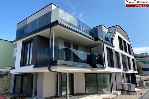 Architekten Reihenhaus mit Pool nahe Badeteich Hirschstetten! ERSTBEZUG-NEUBAUPROJEKT! 50m² Eigengartenparzelle! Keller mit Tageslichtfenster!