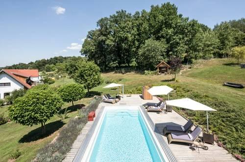 Exklusives Anwesen mit Gästehaus, Pool, Weinkeller uvm