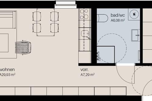 Neubau - helle 2,5 Zimmer Wohnung mit Balkon