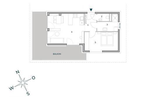 Provisionsfrei ab € 560,00 mtl. ohne Eigenkapital, bonitätsabhängig | Westlicht am Anger Graz-Andritz | moderne 2-Zimmer-Neubauwohnung
