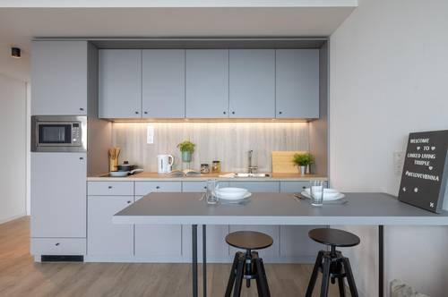 ERSTBEZUG: möbliertes Apartment über den Dächern Wien mit großen Balkon - Linked Living TrIIIple