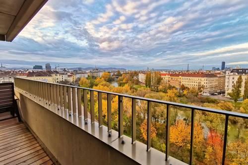 LAENDYARD PROVISIONSFREI: Traumhafter Blick über Wien, 3 ZI, 2 Balkone und EWE Küche