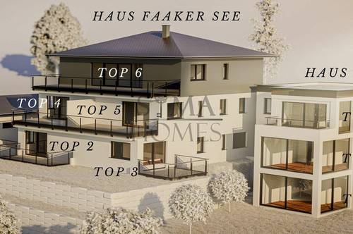 Faaker See Erstbezug: TOP 7 Gartenwohnung mit Bademöglichkeit