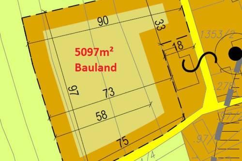 Über 5000m² Bauland inkl. Beb.Plan für Reihenhaus-Siedlung
