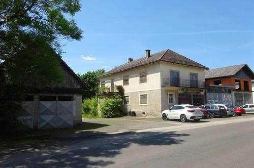 Großes sanierungsfähiges Wohnhaus / Hallen / Garagen / Werkstätten