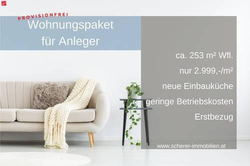 ERSTBEZUG: Attraktives Wohnungspaket für Investoren!