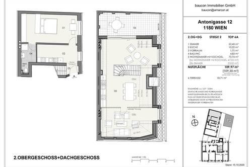 Provisionsfrei: Sonnige Dachgeschoß Wohnung freie Raumaufteilung