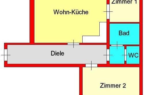 gepflegte Altbauwohnung bei alter Technik - Alberstraße