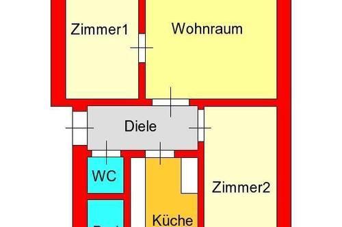 günstige 3-Zimmer-Altbauwohnung bei Lendplatz - Keplerstraße