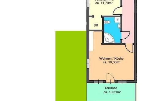 moderne 2-Zimmer-Gartenwohnung mit Autostellplatz in Andritz - Weinitzenstraße