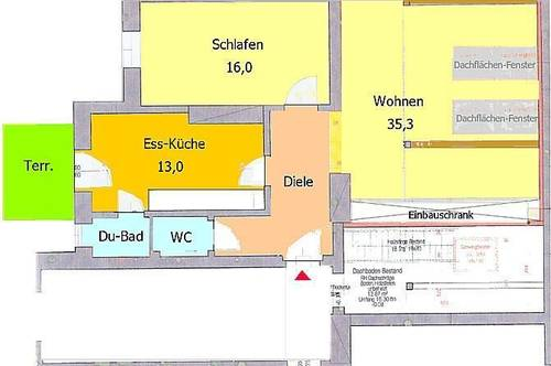 Großzügiger Dachausbau mit kleiner Terrasse direkt am Hasnerplatz