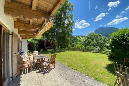 Charmantes Gartenapartment in märchenhafter Aussichtslage von Aurach