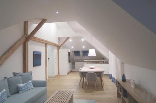 Dachgeschoßwohnung mit Loftcharakter - URBAN und ZENTRAL wohnen in ITZLING voll möbliert