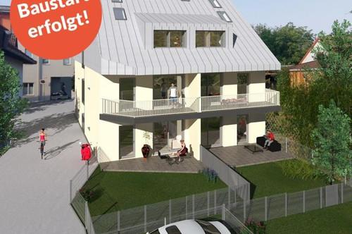 BAUSTART ERFOLGT - Grün und stadtnah - Wohnung mit Eigengarten