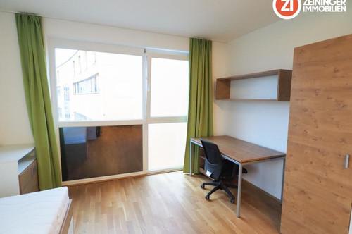 *1 MONAT MIETFREI!* Möblierte moderne 2 ZI-Wohnung inkl. Heizung und Warmwasser - zentrale Lage - Balkon u. Küche