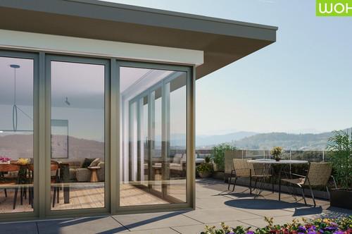 Neubauprojekt Leo 12 - Provisionsfrei - Dachgeschosswohnung mit rundum Terrasse - Tiefgaragenstellplatz vorhanden