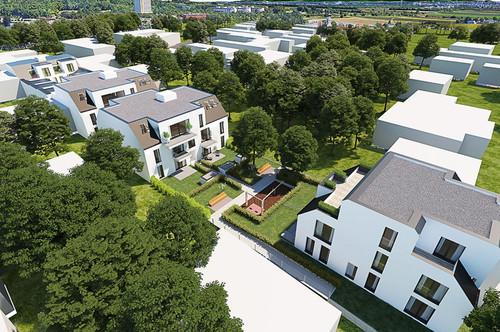 Seltene Möglichkeit in ca. 800m bei U1 und Therme: Wohnbauprojekt mit über 1.700qm gewichtete Nettonutzfläche, 2018 eingereicht und voraussichtlich im August 2020 nach Adaptionen baugenehmigt, am Rand von Wien, vor den Feldern, echte Rarität