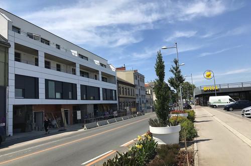 Neubau Wohnhausanlage mit bester Verkehrsanbindung, beziehbar Mai 2020: Wohnungen, Geschäftslokal, Ordination und Büros...