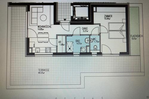 Provisionsfreie 2-Zimmer-Wohnung mit Dachterrasse in Stiftingtal zu vermieten- Erstbezug!