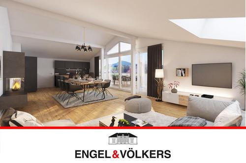 Luxuriöse Dachgeschoss-Wohnung mit Terrasse