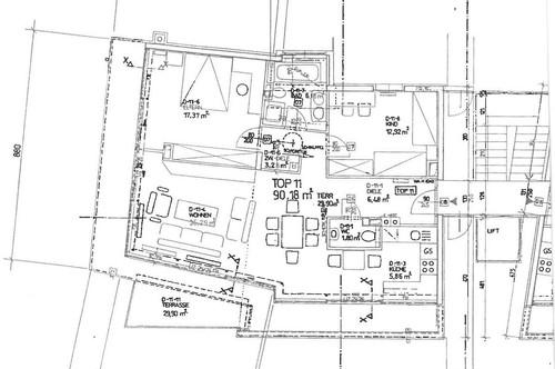 Salzburg Altstadt - Riedenburg: Repräsentative Dachgeschoss-Wohnung in Bestlage