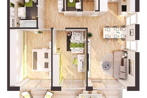 Provisionsfreie 3-Zimmer Neubau-Wohnung mit Balkon (BW04)