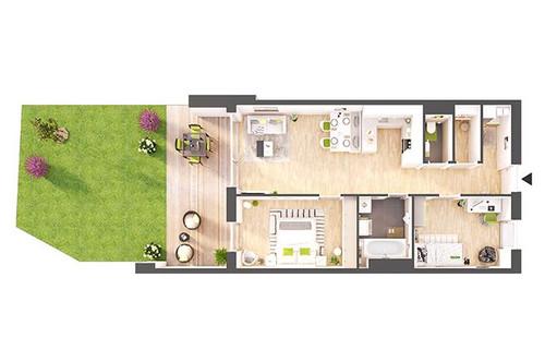 Provisionsfreie 3-Zimmer Neubau-Gartenwohnung (BW04)