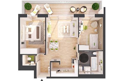 Provisionsfreie 3-Zimmer Neubau-Wohnung mit Terrasse (BW12)