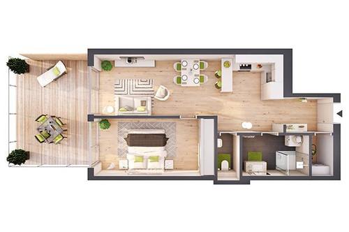 Provisionsfreie 2-Zimmer Neubau-Wohnung mit Terrasse (W03)