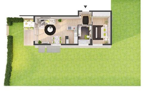 Provisionsfreie 2-Zimmer Neubau-Gartenwohnung (DW02)