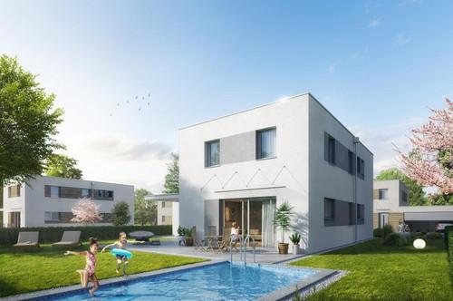 Ihr schlüsselfertiges Traumhaus mit Doppelgarage und Pool