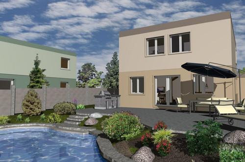 Rarität!! 2 freistehende Baumeisterhäuser vor Errichtung, nahe dem Bahnhof Leobersdorf, in attraktiver Ruhelage