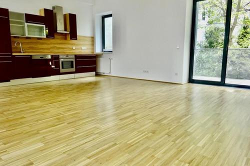 Zentrum, U1-Nestroyplatz: neuwertige, bildhübsche Terrassenwohnung (14 m²Terrasse) mit Grünblick, ruhig, Garage im Mietpreis inbegriffen!