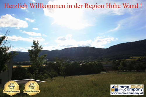 *** Wr. Neustadt - Bezirk - Hohe Wand *** Grundstück mit grandioser Rundumsicht auf die Berge !!!