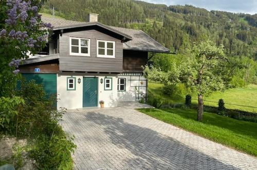 5751 Maishofen: Teilmöbliertes , gepflegtes Einfamilienhaus, 700m² Garten, absolute Ruhelage, Weitblick , großer sonniger Garten !