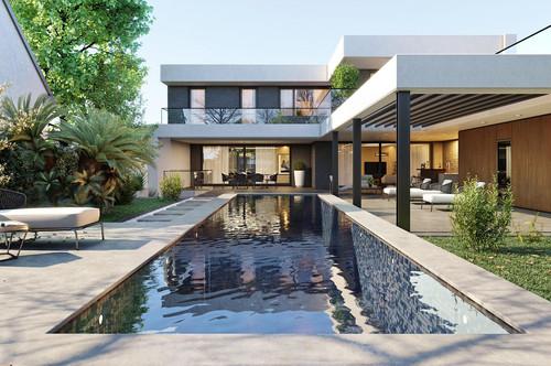 Luxuriöse Villa mit moderner Pool- und Gartenanlage